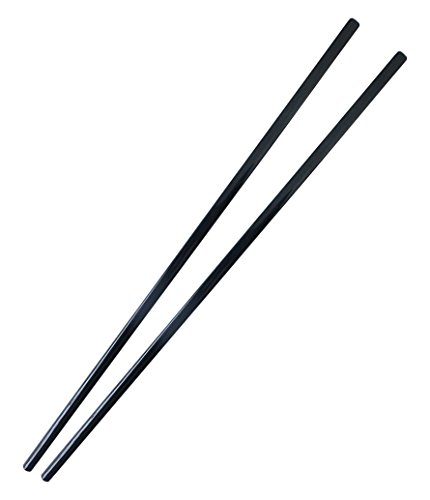 Fine joy 10 Pairs of Black Melamine Chopsticks