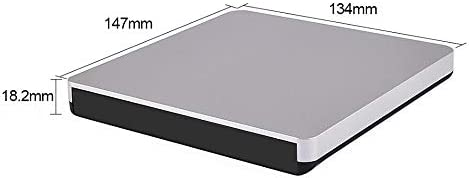 DVDドライブ ノートPC、デスクトップPC光ディスクドライブ、ブルーレイパネルの12.7ミリメートルのUSB 3.0外付けブルーレイケース JPLJJ