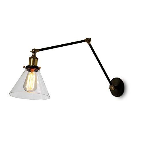 (Industrial Long-arm Wall Lamps, Creative LED Glass Lighting Decoration Adjustable Hanging Lamp Wall Light Postmodern Cafe Bedroom Bedside Wall Sconce (Color : B) )