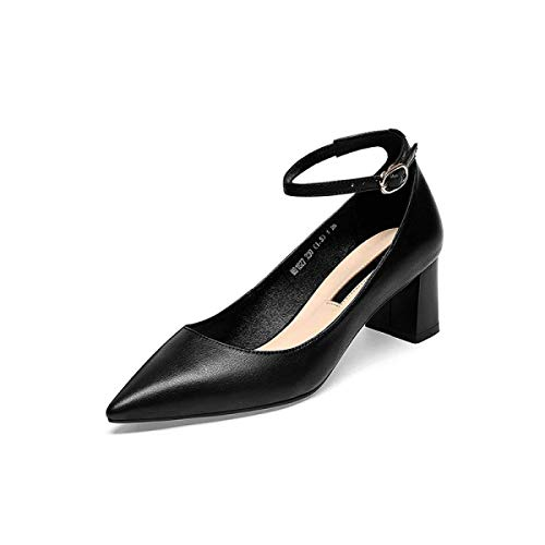 Verano color Grueso De Y 39 Zapatos Primavera Negro Nuevas Tacón Beige Hhgold Casuales Sandalias Tamaño Bqwnv1BX