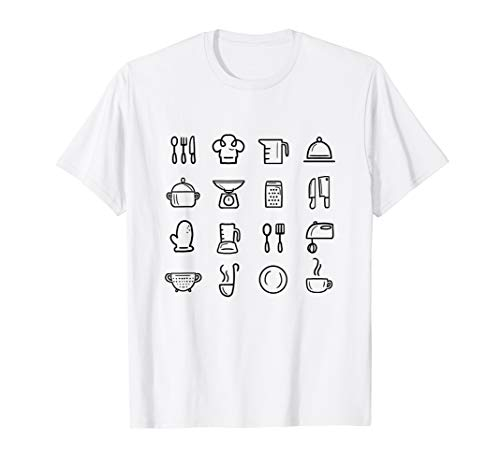 Kitchen Tools Retro Cooking Baking Utensils Chef Baker Gift T-Shirt