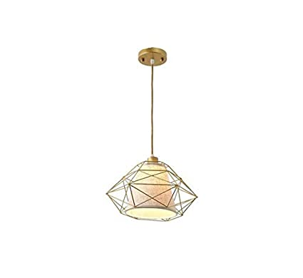 Chandeliermodern Lámpara Colgante Forma de Diamante Jaula Metálica ...