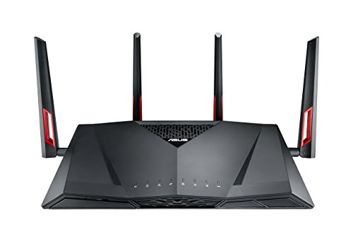 ASUS AC3100 Wireless Dual Band (5GHz + 2.4GHz) Gigabit Wi-Fi Router [RT-AC88U] 802.11ac 3167 Mbps Wi-Fi Speed, 4 x 4 MU-MIMO Antennas, 8x Gigabit LAN Ports, AiRadar Beamforming, WTFast Optimization