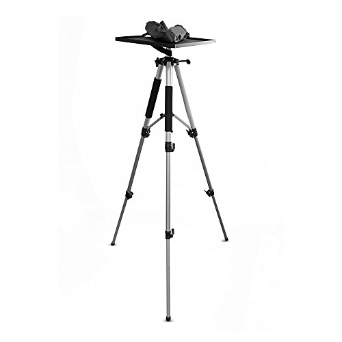 Video Projector Mount Stand, Laptop Stand, Adjustable Height, 360 Degree Rotation, Swivel/Rotating Plate, Tripod Style, With Travel - Projector Plate