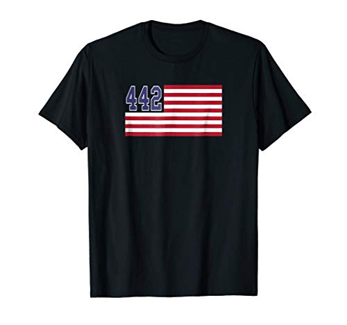442 Area Code Hometown Pride American Flag Roots T-Shirt -