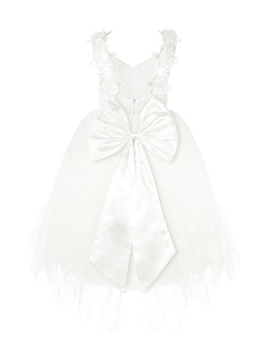 YiZYiF White V-Neck Lace Backless Flower Girl Dresses Kids Princess  Bridesmaid Wedding Formal Party Dress: Amazon.co.uk: Clothing