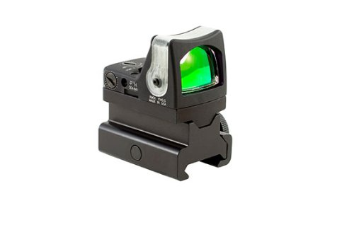 Trijicon RM08-C-700088 RMR 12.9 MOA Dual-Illuminated Green Triangle Sight with RM34 Tall Picatinny - Triangle Reflex