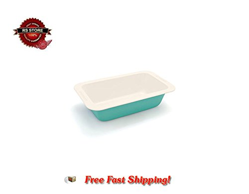 GreenLife Non-Stick Loaf Pan Turquoise New (Indian Clay Cookware compare prices)