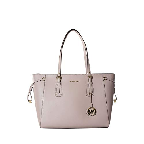 (MICHAEL Michael Kors Voyager Medium Leather Tote - Soft Pink)