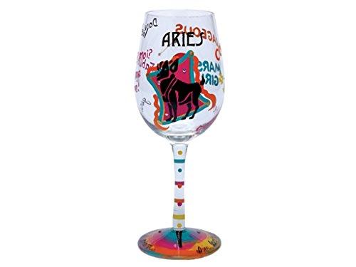 Lolita Love My Sign, Aries Wine Glass