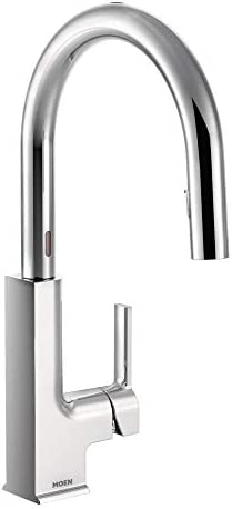 Moen S72308EC STo Motionsense Two-Sensor Touchless One-Handle Pulldown Kitchen Faucet Featuring Reflex Chrome