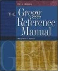 Gregg Reference Manual 10ed