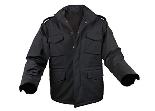 - Field Jacket M-65 Black Military Soft Shell Tactical