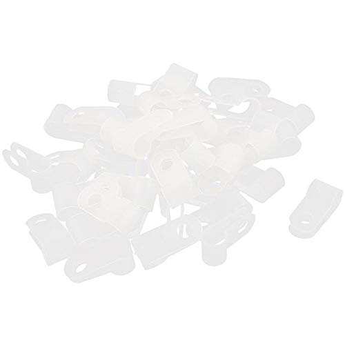 HAWORTHS 1/2 Inch. Rope Light P-Style Mounting Clips-50 Pack