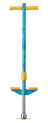 Flybar Propel Pogo Stick for Kids Boys & Girls Ages 5 & Up, 40 to 80 Pounds - New Bright & Vibrant Designs with Comfortable & Safe Rubber Hand Grips - Comes in 3 Exciting Colors