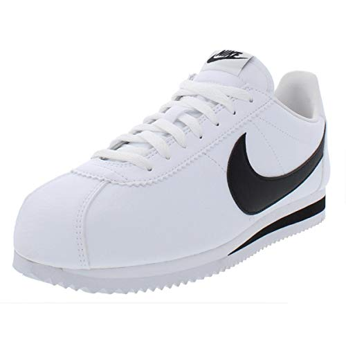 Nike Mens Classic Cortez Leather Low Top Casual Shoes White 13 Medium (D)
