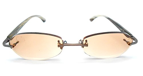 Gold and Wood R12 Eyeglasses with Buffalo Horn - Eyeglasses Wood Temple