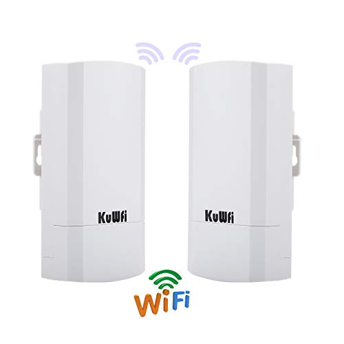 - 2-Pack Wireless Access Point CPE Router Kit 300Mbps Indoor and Outdoor Point-to-Point Wireless Bridge Supports 2KM Transmission Distance Solution for PTP/PTMP Application (WDS) with LED Display