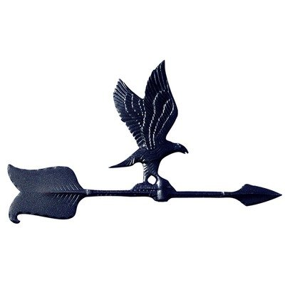 Whitehall Products Eagle Accent Weathervane, 24-Inch, Black