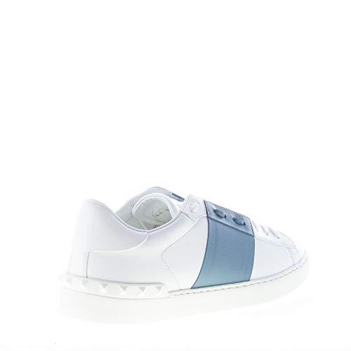 In Uomo Valentino Blu Borchie Sneaker E Fascia Pelle Con Bianco RafwBfq7