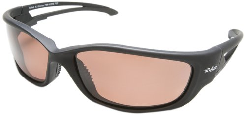 Edge Eyewear TSK-XL215 Kazbek XL Polarized Safety Glasses, Black with Copper ''Driving'' Lens by Edge Eyewear