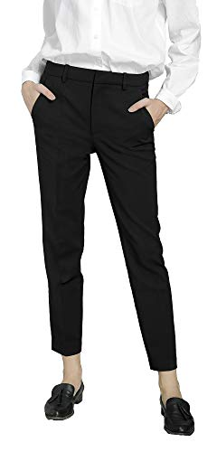 Marycrafts Women's Work Ankle Dress Pants Trousers Slacks Black 2 L New