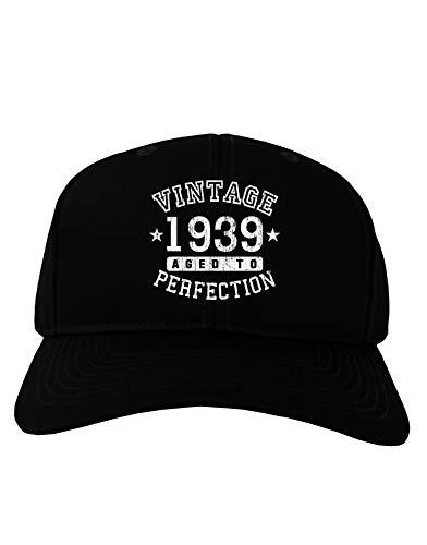 TooLoud 80th Birthday Vintage Birth Year 1939 Adult Dark Baseball Cap Hat - -