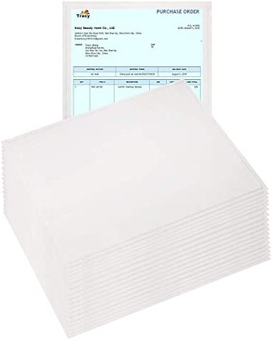 100 Pack Clear Packing List Envelopes 7 x 10 Adhesive Shipping Label Pouches. Shipping Document envelopes. 2 mil. Packing Slip Holder. Adhesive Envelope Sleeve. Back Side Loading.