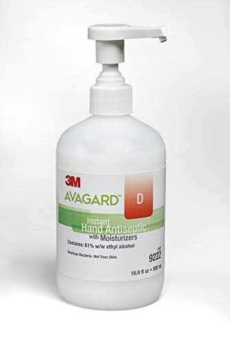 3M Healthcare Sanitizer Hand Gel Avagard D with Moisturizer, 16.9 oz, 12/cs from AVAGARD