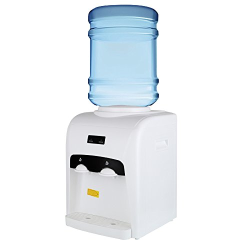 KUPPET 3-5 Gallon Electric Water Cooler Dispenser Counter Top-Offer Hot Cold Water-Home Office Use-White (15.75inch) by KUPPET