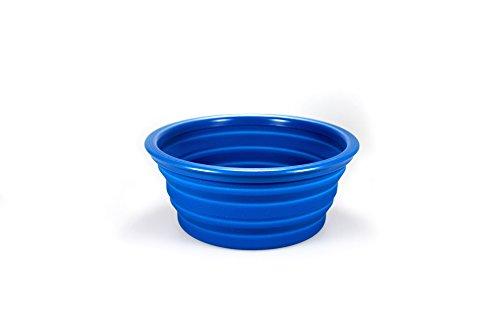 Futternapf Fressnapf Wassernapf Silikon Faltbar Katzen Hunde 1 L Design Blau