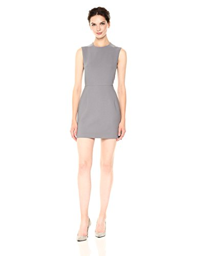 French Connection Women's Whisper Light Stretch Solid Mini Dress, Smokey, 10