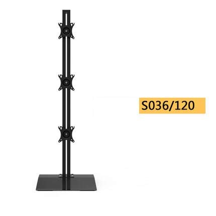 Desktop Stand/Floor Stand Full Motion Vertical Arrangement Triple Screen Monitor Holder (S036120)