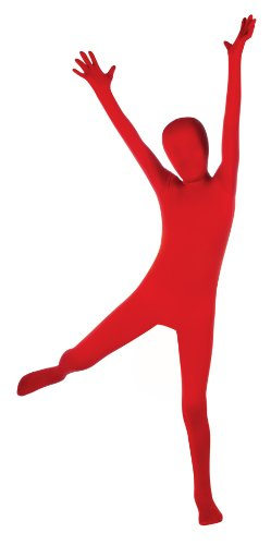 Morph Suits For Kids (Child's Red Second Skin Body Suit, Large)