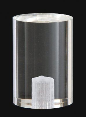 B&P Lamp Large Clear Acrylic Cylinder Finial