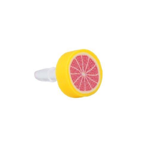 eDealMax Fruit Rouge Orange 3,5 mm Anti-poussière Ear PAC - Fruits Rouges