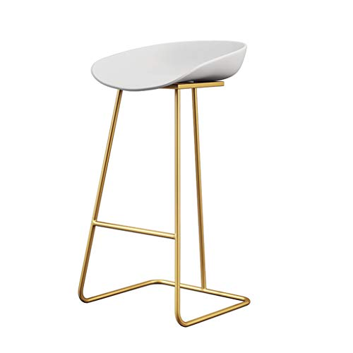 Barstools Chair Footrest with Backrest Dining Chairs for Kitchen | Pub | Café Stools Bar Counter Stool Max. Load 200kg Gold Metal Legs Seat Height:65cm