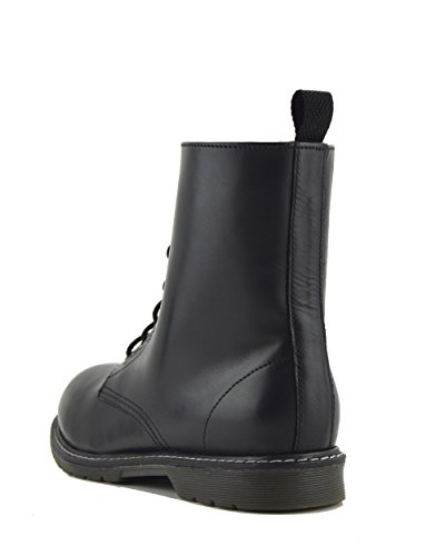 Kick Footwear Damen Retro Leder Stiefel Schwarz Knöchel Stiefel Black Leather