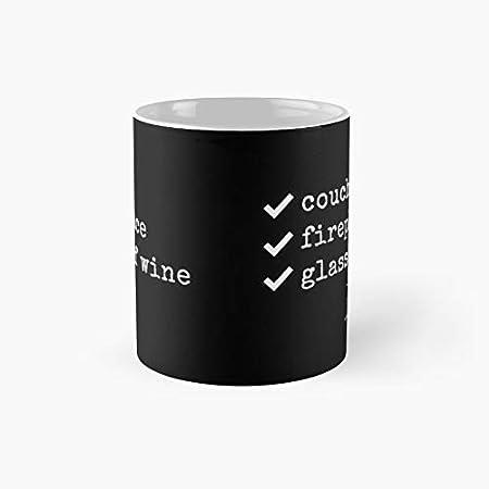 Taza clásica con cita de vino, taza de chimenea con texto en inglés « El mejor regalo divertidas tazas de café de 11 onzas