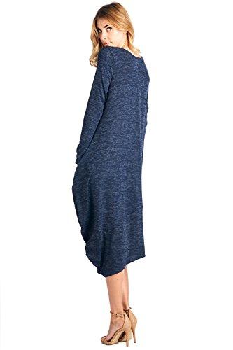 12-Ami-Asymmetrical-Heathered-Sweater-Knit-Midi-Dress-S-XXL-Made-in-USA