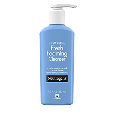Neutrogena Fresh Foaming Facial Cleanser & Makeup Remover with Glycerin, Oil-, Soap- & Alcohol-Free Daily Face Wash…
