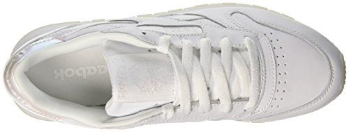Reebok White Blanc Femme Ice L Classic Baskets Leather basses Pearl white BZBqr