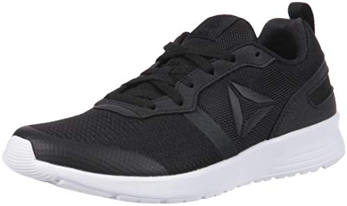 Reebok Women's Foster Flyer Sneaker, Black/White, 9 M US