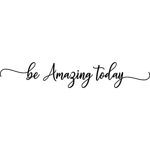 My Vinyl Story - Be Amazing Today - Wall Decals for Bedroom Inspiring Motivational Decal Quote Religious Words and Saying Sticker Sign Family Decor Removable Vinyl for Living Room Home 36x7 Inches