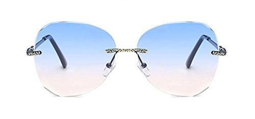 et Poudre Soleil Lunettes Steampunk Inspirées Femmes Retro Hommes Bleue Métallique de Rond du en Polarisées Cercle Pour Style a656CUwqx