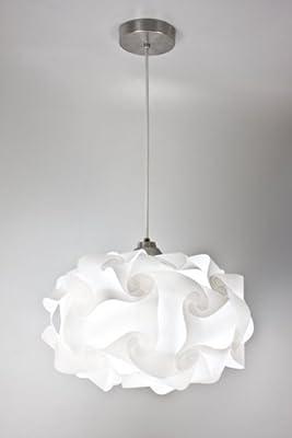 EQLight PP4M01 Cloud Light Contemporary Pendant, White, Medium