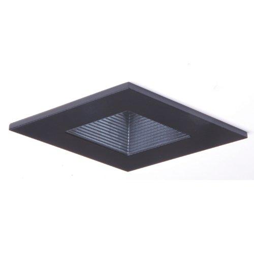 Voltage Black Baffle - HALO Recessed 3012BKBB 3-Inch 15-Degree Trim Lensed Square Shower Light with Baffle, Black