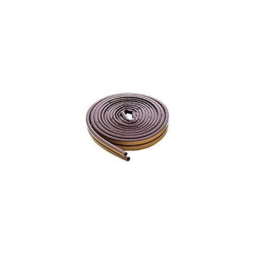 M-D 63602 17' Brown Extreme Temperature D-Profile Weather Stripping M-D Building Products