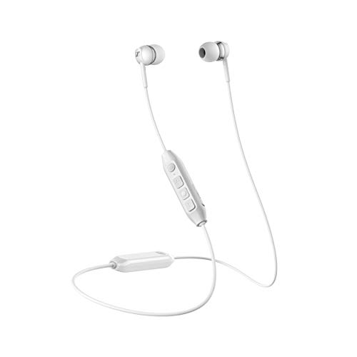 Sennheiser CX 350BT Bluetooth 5.0 Wireless Headphone - 10-Hour Battery Life, USB-C Fast Charging, Virtual Assistant Button, Two Device Connectivity - White (CX 350BT White)