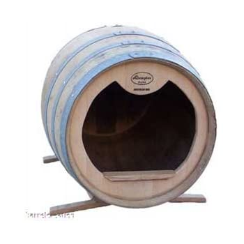 Amazon Com Oak Wine Barrel Dog House With Stand 30 Quot H X